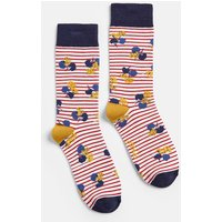 Red Lily Stripe Brilliant Bamboo Single Socks  Size Adult 4-8