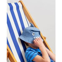 Navy Pirate Shark Hatattack Character Hat  Size 3Yr-7Yr
