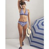 Navy Damask Coraline Halterneck Bikini Top  Size 16