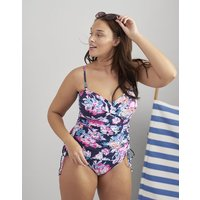 NAVY FLORAL Delphine One Piece Swimsuit