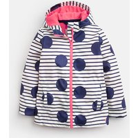 BLUE LARGE SPOT AND STRIPE Raindance WATERPROOF RUBBER COAT 3-12yr  Size 9yr-10yr