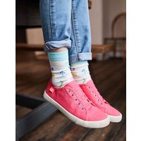 BRIGHT CORAL Coast pump Canvas Lace Up Trainers  Size Junior 3