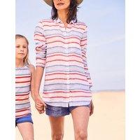 Jeanne Print Longline Linen Shirt