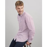 RED BLUE GINGHAM Hewney slim fit Long Sleeve Peached Poplin shirt  Size XL