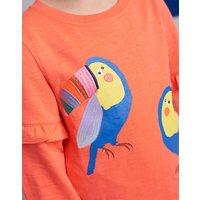 Pink Tiana Frill Sleeve Sweatshirt 1-12 Yr  Size 9Yr-10Yr