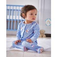 Blue Unicorn And Star Razamataz Jersey Printed Babygrow  Size 3M-6M
