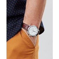 Tan Huxley Mens Leather Strap Watch  Size One Size