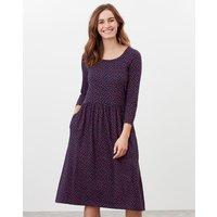 Milana Print Dropped Waist Jersey Dress