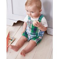 Blue Multi Check Duncan Check Woven Dungaree And T-Shirt Set  Size 12M-18M