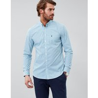 Red Green Check Harrison Easy Iron Long Sleeve Classic Fit Shirt  Size S