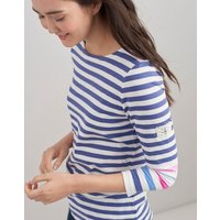 CREAM BLUE STRIPE Harbour Jersey Top  Size 10