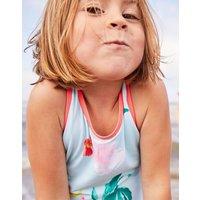 Aqua Floral Briony Cross Back Swimsuit 1-12 Yr  Size 6Yr