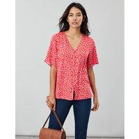 Red Spot Georgie Short Sleeve V Neck Button Through  Size 16