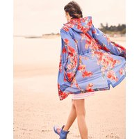 Blue Floral Golightly Packaway Waterproof Jacket  Size 12