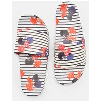 Inky Navy Lilypads Poolside Printed Sliders  Size Adult 7