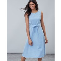 Blue Gingham Fiona Sleeveless Woven Dress With Tie Detail  Size 8