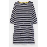 Navy Stripe Bee 206925 Printed Jersey Dress  Size 8