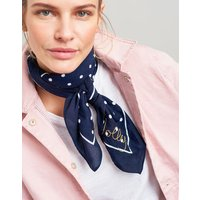 Navy Text Tiewell Embroidered Neckerchief  Size One Size