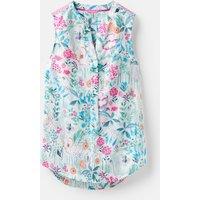 BRIGHT WHITE SECRET GARDEN 204546 Sleeveless Pop Over Top  Size 10