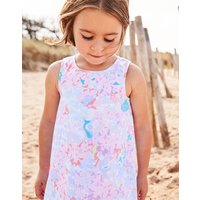 Blue Mermaid Ditsy Bunty Woven Printed Dress 1-6 Yr  Size 4Yr