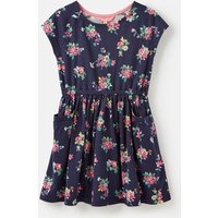 Navy Ditsy Floral Jude Jersey Raglan Sleeve Dress 3-12 Years  Size 9Yr-10Yr