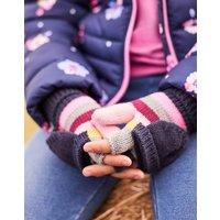 MULTI STRIPE Ailsa Bobble mittens  Size 4yr-7yr