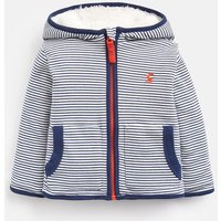 NAVY STRIPE 204676 Fully Reversible Fleece Jacket  Size 3m-6m