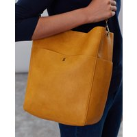 Antique Gold Wayfield Bright Faux Leather Bucket Bag