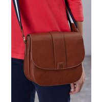 Bridport Bright Faux Leather Saddle Cross Body Bag