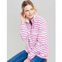 CREAM PINK STRIPE Bewley stripe Casual Half Zip Sweatshirt  Size 18