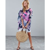 Navy Floral Rosanna Cover Up  Size One Size