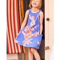 Blue Floral Madeline Jersey Tie Dress 3-12 Yr  Size 5Yr