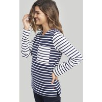 NAVY CREAM STRIPE Renee Striped Sweatshirt  Size 10