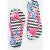 Navy Cottage Stripe Flip Flops  Size Adult Size 6