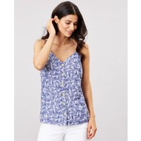 Carper Print Button Through Cami