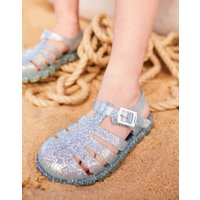Silver Juju Jelly Shoe Sandals  Size Junior 3