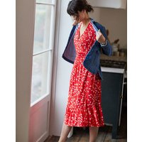 Red Ditsy Isabelle Wrap Tea Dress  Size 18