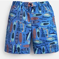 Blue Surf Up Surfer Board Shorts 3-12 Yr  Size 4Yr
