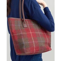 RED CHECK Fernwell tweed Tote Bag  Size One Size