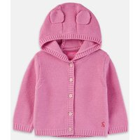Light Pink 207273 Hooded Knit Cardigan  Size 12M-18M