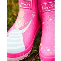 PINK FAIRY Wellibob Short Height Wellies  Size Childrens Size 9