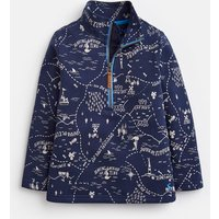 NAVY TREASURE MAP Dale HALF ZIP SWEATSHIRT 1-6yr  Size 3yr