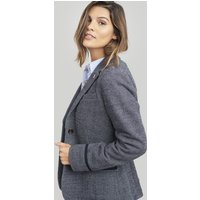 FRENCH NAVY Juliane Jersey Blazer  Size 8