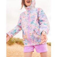 Blue Mermaid Ditsy Golightly Short Packable Rain Jacket 3-12 Yr  Size 5Yr