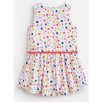 WHITE FRUIT JUMBLE Imogen WOVEN PRINTED DRESS 1-6 YEARS  Size 6yr
