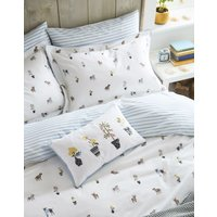 Creme Dogs Garden Dogs Oxford Pillowcase  Size One Size