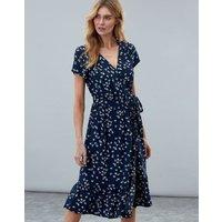 Navy Ditsy Isabelle Wrap Tea Dress  Size 8