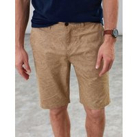Light Brown Palm Swanmore Printed Chino Shorts  Size 34
