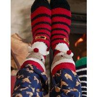 Santa Festive Fluffy Supersoft Socks  Size Adult 7-12