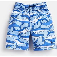 Shark Dive Stripe 204644 Swim Shorts  Size 7Yr-8Yr